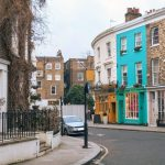 View of Notting Hill area in London UK