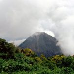 A photo of a dormant volcano in El Salvador