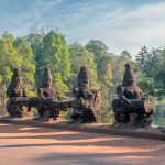 Gate guardians, Angkor, Cambodia