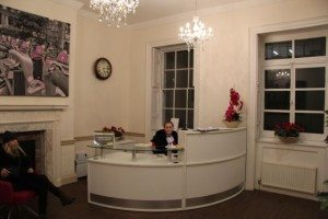 reception area at the travel vaccination clinic in soho london
